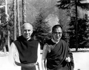 Thomas Merton and the Dalai Lama, 1968. Copyright of the Merton Legacy Trust and the Thomas Merton Center at Bellarmine University. Used with permission.