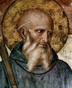 St. Benedict, by Fra Angelico (c. 1395-1455) Source: Wikimedia Commons, public domain.