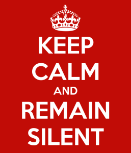 Often, remaining silent is better than getting into a pointless debate.