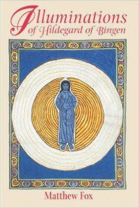 The cover of this book features Hildegard's Sapphire Christ