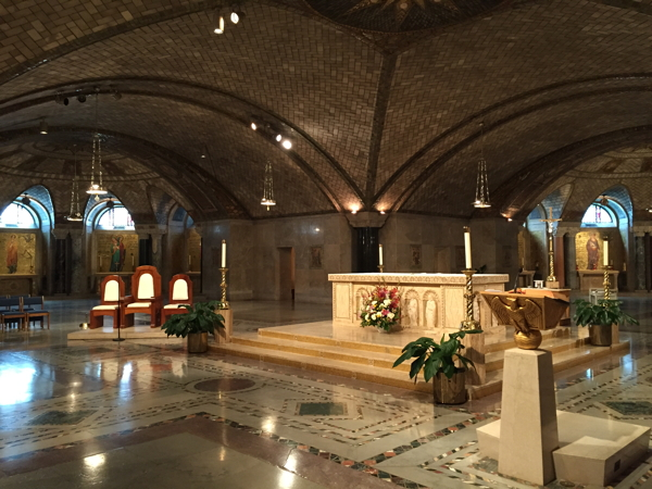 One of my favorite churches (the Crypt Chapel at the National Shrine in Washington DC). But it's people, not architecture, that makes a church.