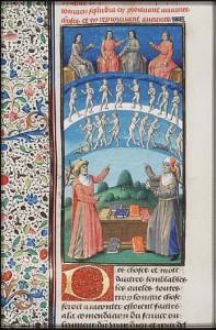 Medieval image of Neoplatonic philosophers Plotinus and Porphyry (public domain).