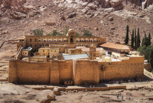 St. Catherine's, one of the oldest Christian monasteries, is in the Sinai desert where monks have prayed for over 1500 years.
