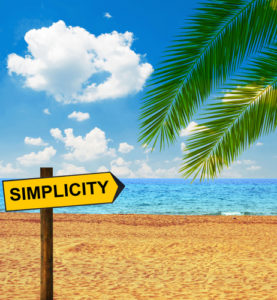 Happiness and simplicity often go together....