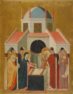 """Master of the Cini Madonna Active in Rimini, first third of the 14th century, """"The Presentation of Jesus in the Temple"""" (public domain)"""