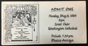 My ticket to see the play