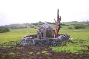 A Holy Well in the west of Ireland (the water source is inside the building). Photo by Carl McColman