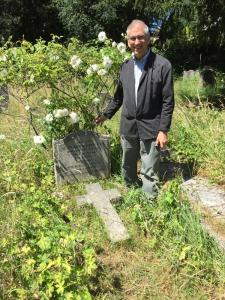 Your humble blogger visiting the grave of Evelyn Underhill in north London.