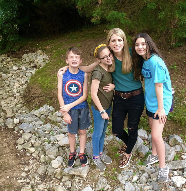 Crystal Paine and family