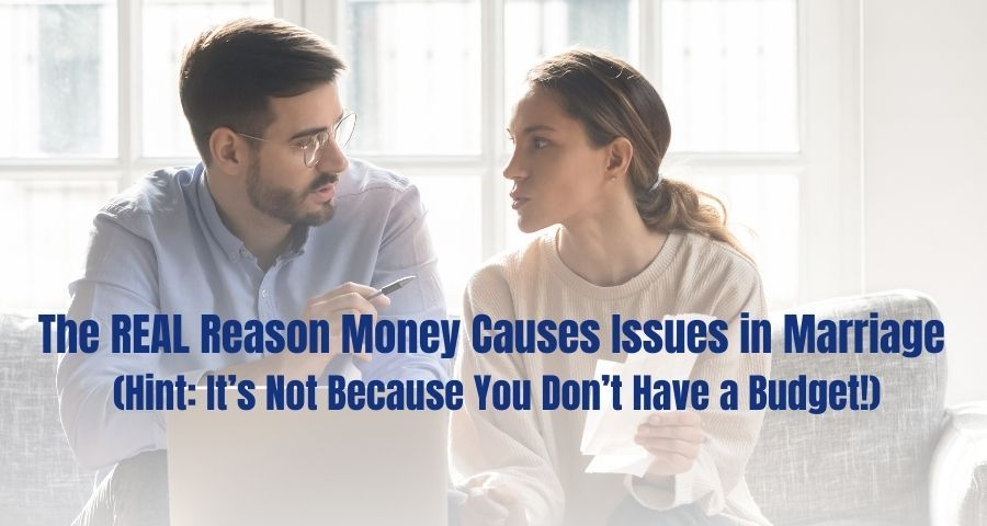 Photo of a couple who are disagreeing about their finances