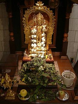 Altar of Bhairava. By Sreekant2k (Own work) [Public domain], via Wikimedia Commons