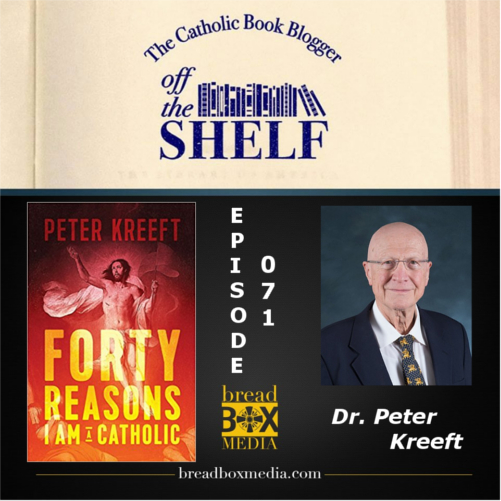 The well-known author Dr. Peter Kreeft joins me on Off the Shelf. We take a look at his book Forty Reasons I Am a Catholic. Dr. Kreeft tells us  why If you leave the Church, you are making a mistake. His reasons for staying include the power of the real presence, the hierarchy of the Church, and the ability to have his sins forgiven. Dr. Kreeft also believes that the Church has the ability to save us from our worst enemy…ourselves! It's possible we may even talk about the Baltimore Orioles and the Boston Red Sox…..you don't want to miss it!