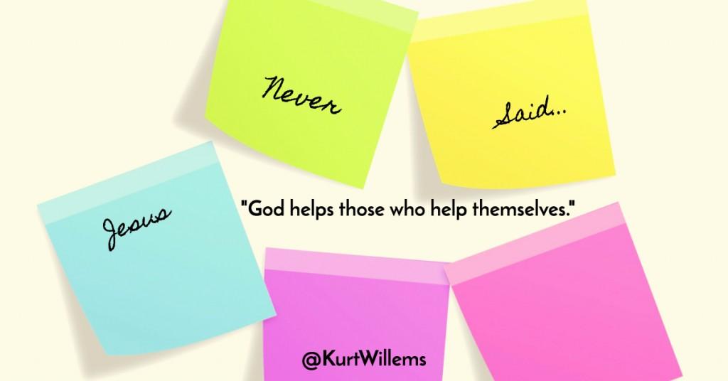 god helps those