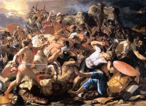 Poussin_-_Joshua_and_the_Amorites_Moscow ds