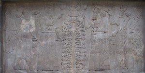 Stone relief Ashurnasirpal II Nimrud ca 870BCE