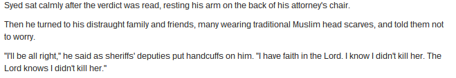 From a Baltimore Sun article about Adnan's conviction.