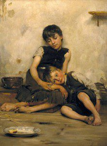 Thomas Benjamin Kennington, Orphans. Public domain