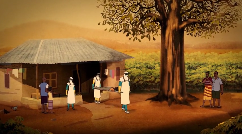 """Screen shot from """"Ebola: A Poem for the Living"""""""