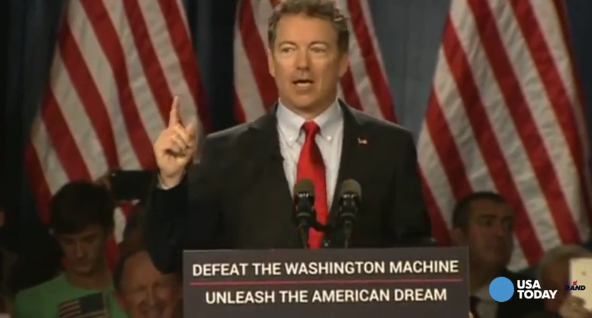 Sen. Rand Paul officially launches his 2016 White House bid (screen grab)