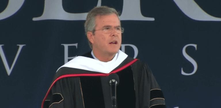 Jeb Bush speaking at Liberty University (Screen Grab)