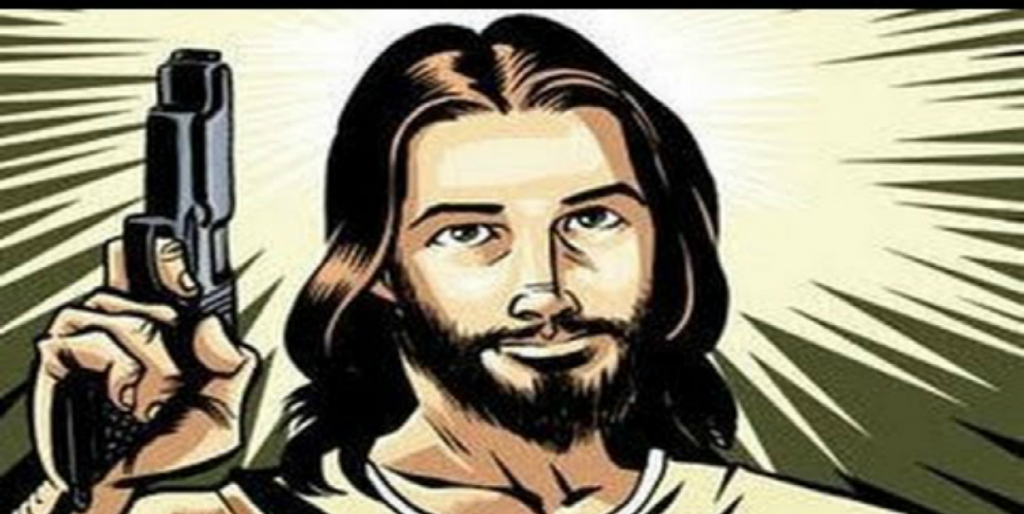 Jesus with a Gun (Image via YouTube)
