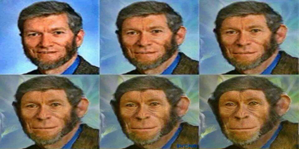 The Devolution of Ken Ham (Image via Facebook)