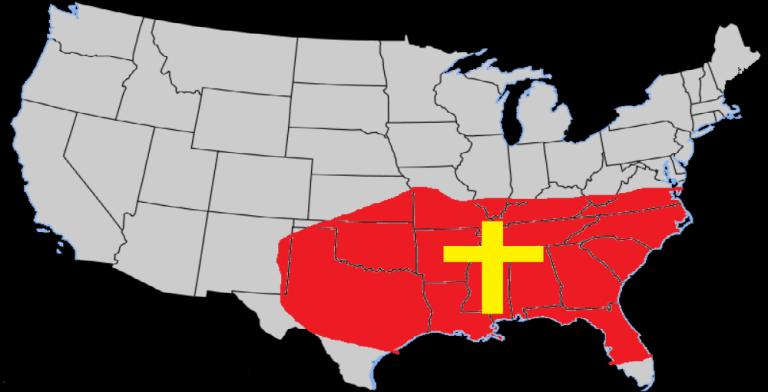 Bible Belt USA (Image via Twitter)