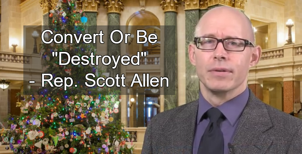 Wisconsin state Rep. Scott Allen (Image via Screen Grab)