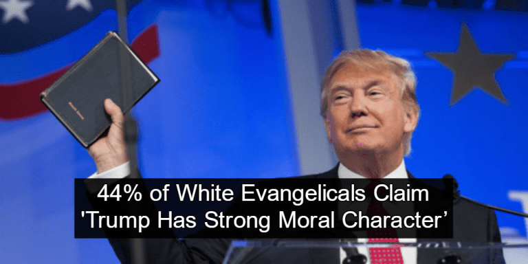 Donald Trump with a Bible (Image via Twitter)