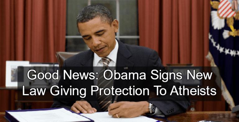 Obama protects atheists (Image via wikimedia)