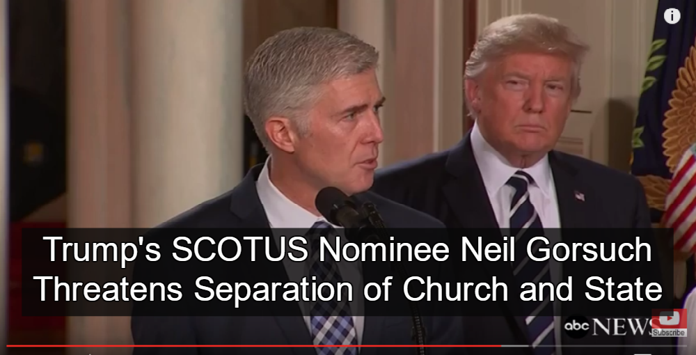 Trump Announces Neil Gorsuch as Supreme Court Nominee (Image via Screen Grab)