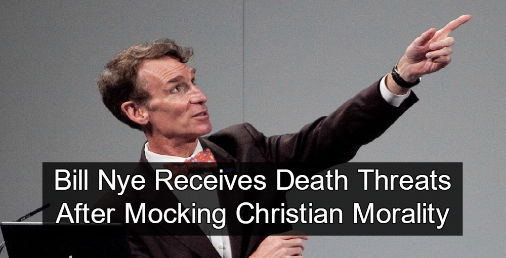 Bill Nye Receives Mocks Christian Morality (mage via Wikipedia)