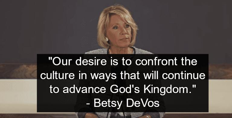 DeVos Education Budget Cuts Public Education To Fund Religious Schools (Image via YouTube)