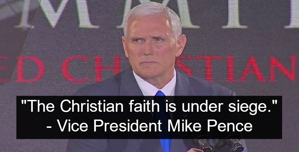 Mike Pence Promises Christians Will Get Special Protection (Image via Screen Grab)