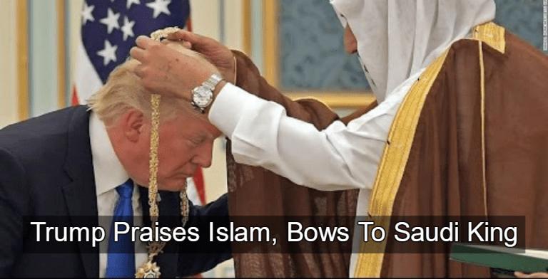Trump Praises Islam, Curtsies For Saudi King (Image via YouTube)