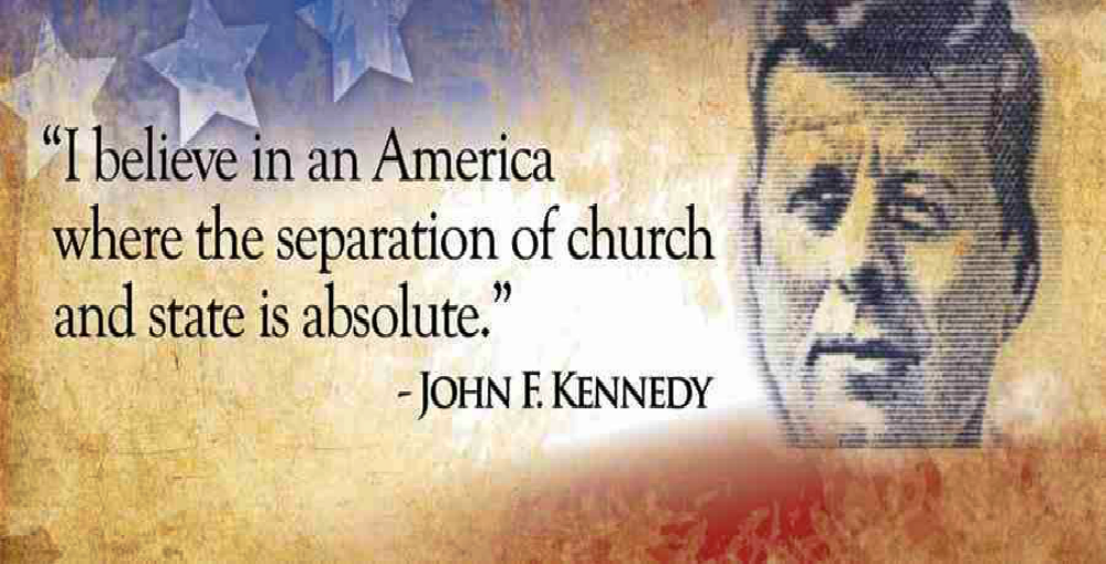 John F. Kennedy Defended Separation of Church and State (image via Facebook)