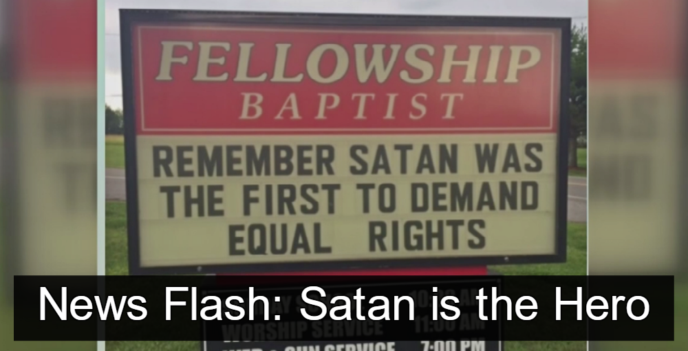 North Carolina Baptist Church Claims Equal Rights Are Satanic (Image via Screen Grab)