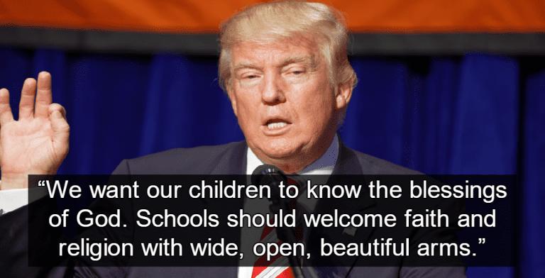 Trump Promotes Religious Indoctrination In Public School Classrooms (Image via Flickr)