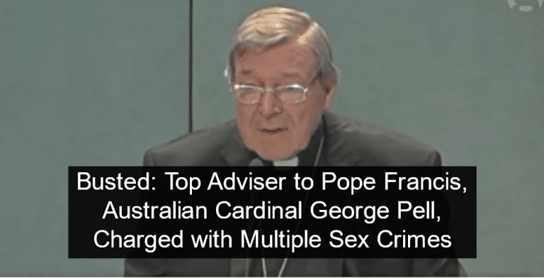 Australian Cardinal Pell Charged With Sex Crimes (Image via screen grab)