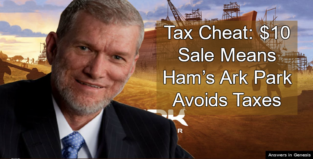 Ken Ham - Tax Cheat (Image via YouTube)