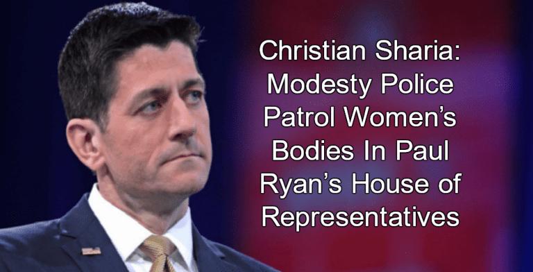 Christian Sharia: Paul Ryan's Modesty Police Patrol Women's Bodies (Image via Gage Skidmore)