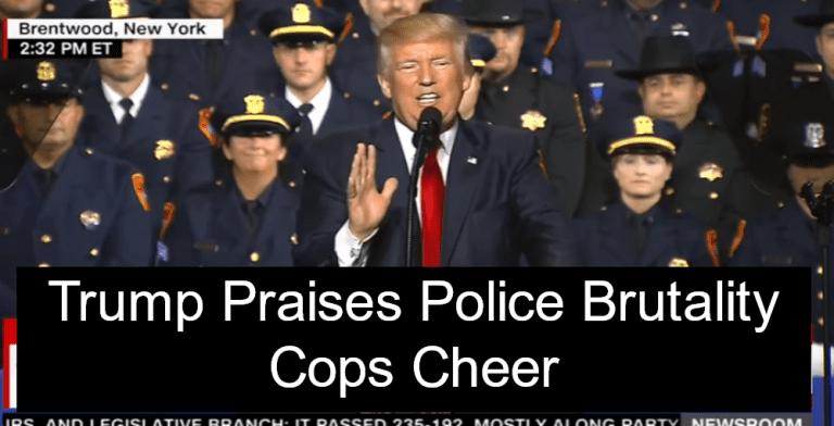 Trump Praises Police Brutality (Image via Screen Grab)