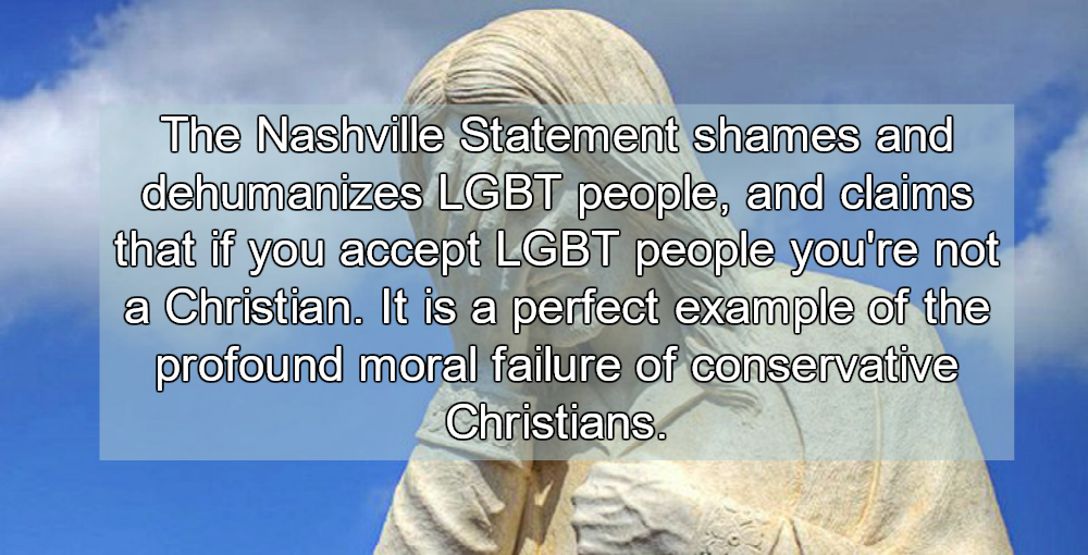 Nashville Statement: Conservative Christians Release Manifesto Of Hate (Image via YouTube)