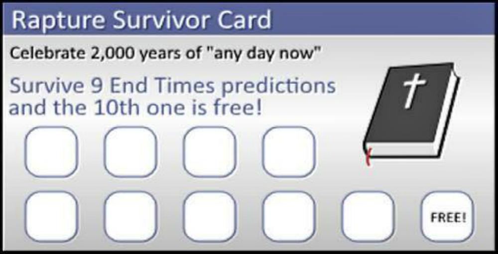 Congratulations! You Survived The Rapture (Image via Facebook)