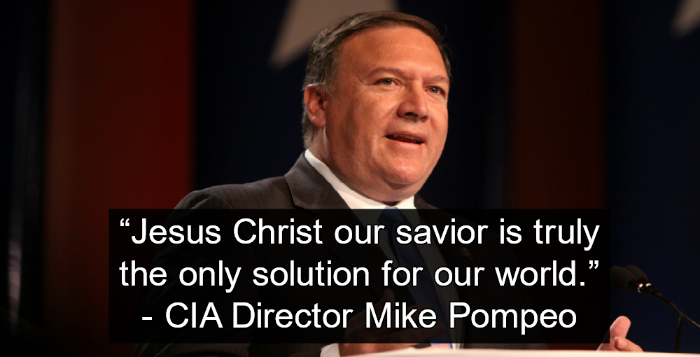 (Image by Gage Skidmore) CIA Director Mike Pompeo Brings Christianity To Agency