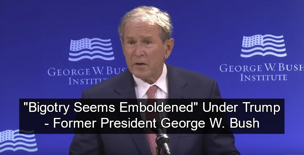Bush Slams Trump For 'Bullying and Prejudice' (Image via Screen Grab)