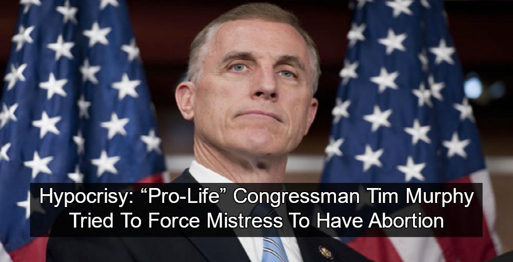 'Pro Life' GOP Congressman Tim Murphy Pressured Mistress To Get Abortion (Image via Facebook)