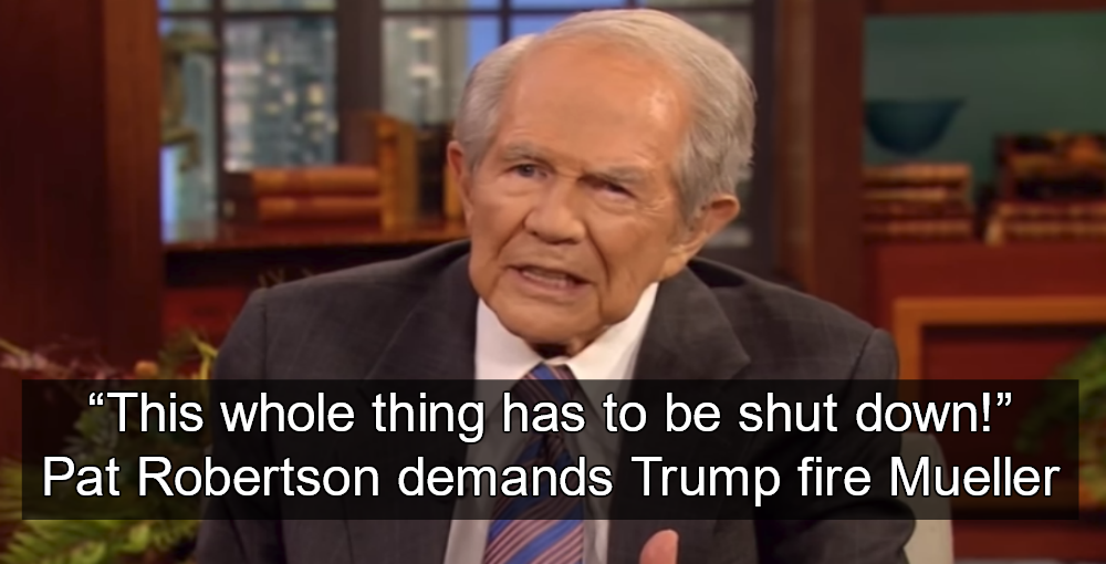 Pat Robertson Tells Trump To Fire Mueller (Image via Screen Grab)
