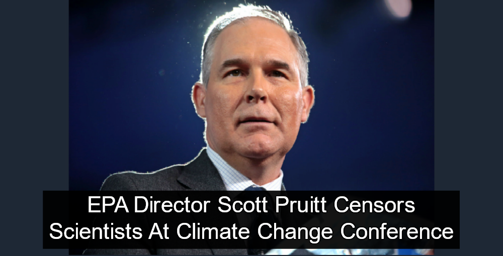 EPA Director Scott Pruitt Censors Scientists At Climate Change Conference (Image via Flickr)