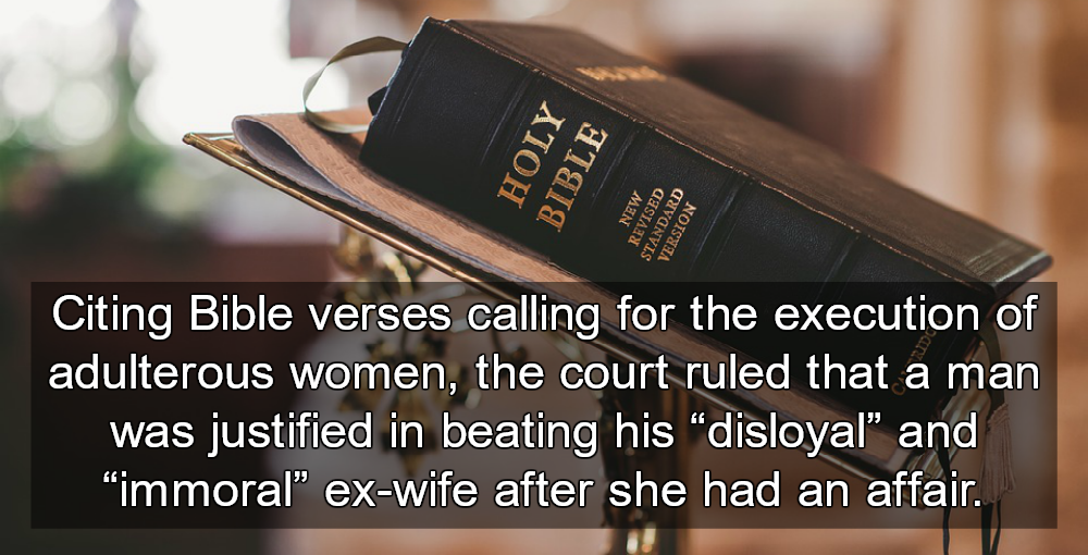 Court Rules Bible Justifies Domestic Abuse After Man Beats Ex-Wife (Image via Pixabay